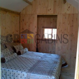 2.4m X 4m X 2.1m Wh Inside View To Back Of Cabin