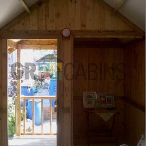 2.4m X 4m X 2.1m Wh Inside View To Front Of Cabin