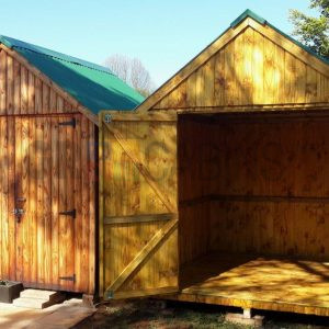 Bevel Storage Cabins 2.4m X 2.4m X 2.1m Wh