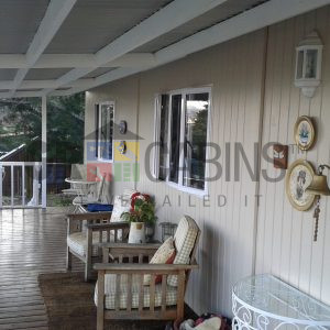 Custom 2 Bedroom Cottage Veranda View Painted By Client