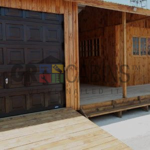 Customised Boat House Showing Garage Office Undercover Deck