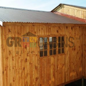 Customised Cabin With Ruduced Gable Roofing System