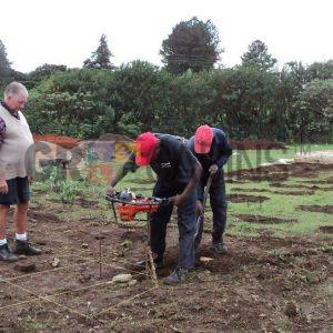 Ground Preparation For The Eshowe Hostel Stilted Base