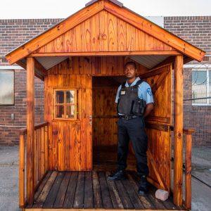 Guard Hut 1.8m X 1.8m Wh Plus 1m Verandah