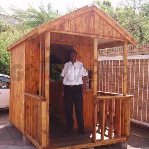 Guard Hut 1.8m X 1.8m X2.1m Wh Plus 1.2m Veranda