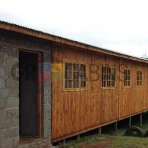 Hostel Adjoining Brick Ablution 8.4m X 17.4m X 2.4m Wh Plus Roofing Over 4.5m Ablution