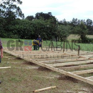 Levelling The Stilted Base For Eshowe Classroom 7.2m X 12m