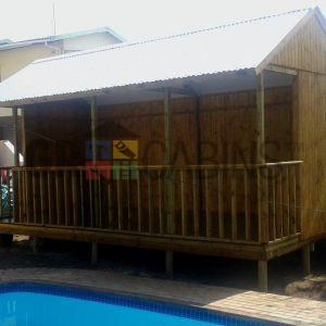 Pool And Entertainment Cabin 3m X 6m X 2.4m Wh