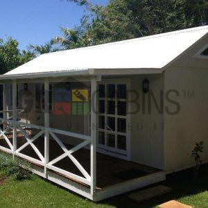 Quaint Little Cottage With Lean To Veranda Painted By Client