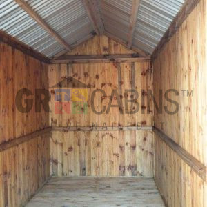 Storage Shed 1.8m X 4m X 2.1m Wh Interior View