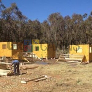 Team Work Achieves, 5 Cabins Manufactured And Installed In Harrismith Within Two Days 3m X 3m X 2.1m Wh