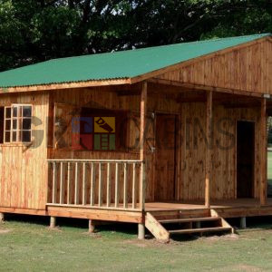 Umhlali Country Club Customised Cabin Front View Showing Tuckshop Service Hatch